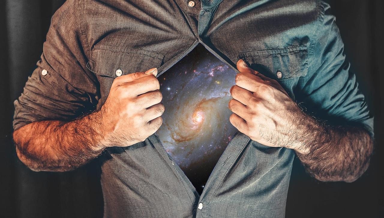 Galaxy stars infinity universe man