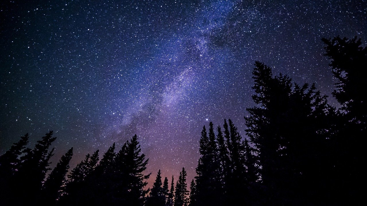 Milky way galaxy night sky stars