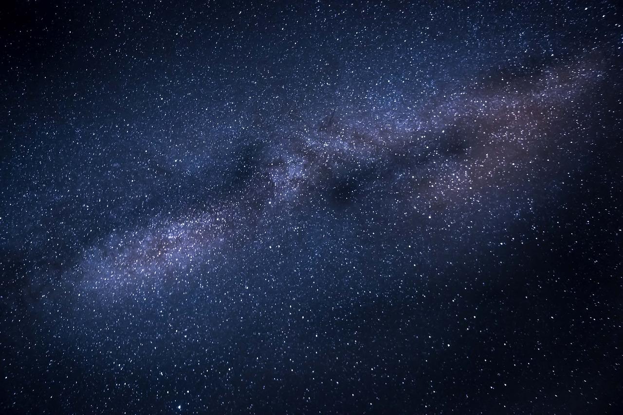 Milky way stars galaxy space